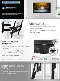full motion corner tv wall mount amazon com mount it full motion tv wall mount corner bracket