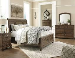 porter bedroom set porter medium brown sleigh storage bedroom set
