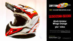 airoh motocross helmet airoh aviator wings orange helmet youtube