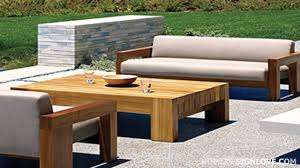 Wood Outdoor Chairs Solid Teak Wood Outdoor Furniture By Marmol Radziner Youtube