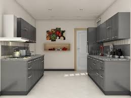Online Kitchen Design Grey Modular Kitchen Designs Parallel Shaped Modular Kitchen
