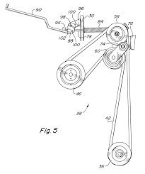 patent us6176071 tensioning idler assembly for mower deck belt