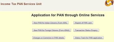 how to apply for pan card online application download and status