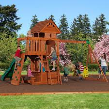 backyard discovery monterey cedar swing play set