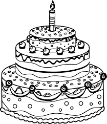 birthday cake coloring pdf cupcake pages adults