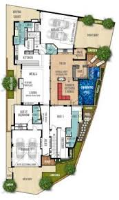 Two Storey House Design With Floor Plan The Breakwater 4bed 2bath 2car Flr 1 Architecture Plans