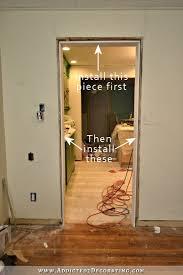 How To Install Interior Door Casing Installing 11 Foot Door Jambs U0026 Casings By Myself Plus My