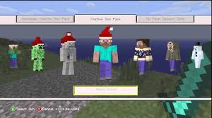 minecraft xbox 360 christmas skin pack overview youtube