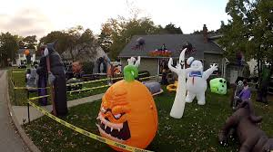 halloween inflatable display 2013 youtube