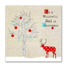 hand finished wonderful dad christmas card karenza paperie