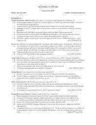 Volunteer Sample Resume by Hr Generalist Resume Samples Resume Format 2017