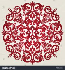 Victorian Decoration Round Ornament Victorian Style Element Design Stock Vector