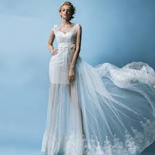 wedding dress trim simple see through bottom lace trim wedding dress