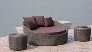 new wicker outdoor sun lounge couch furniture round rattan daybed