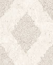 cork medallion wallpaper in cream and pale gold from the kyoto