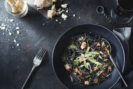 black spaghetti with rock shrimp u2013 www cafepyramiden dk