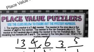 place value mystery number place value puzzles