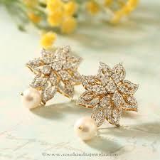 diamond ear studs manubhai jewellers diamond ear studs ear studs diamond and models