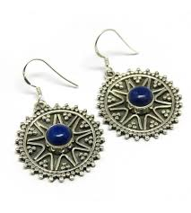 best earrings deal today blue lapis 925 sterling silver earring