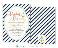 Nautical Bridal Shower Invitations Bridal Shower Invitations Sea Paper Designs
