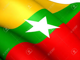 St Kitts Flag Flag Of Myanmar Close Up Stock Photo Picture And Royalty Free