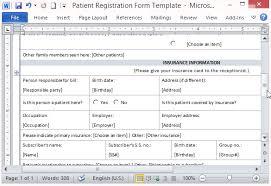 Patient Information Sheet Template Free Patient Registration Form Template