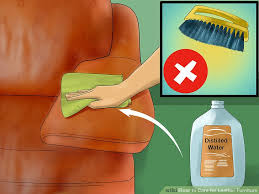 How To Clean A Leather Sofa by 3 Ways To Care For Leather Furniture Wikihow