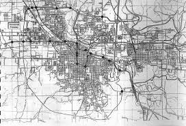 map of oregon freeways eugene s 1967 highway plan