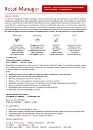 Fashion Retail Resume Examples by Retail Store Manager Resume Examples