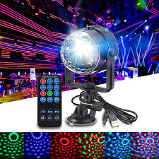 mini disco ball light rgb led stage light mini 3w remote controls light disco ball lights