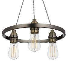 Pendant Ceiling Lights by Buy John Lewis Bistro Hoop Pendant Ceiling Light 3 Light Pewter