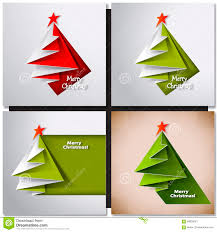 tree card vector origami stock vector image 58839561