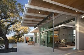 glass door austin brownwood residence clark associates austin tx