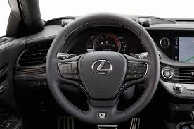 lexus sc430 steering wheel emblem 2018 lexus ls 500 f sport adds visual aggression handling pack to