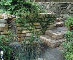 yard fountain ideas awesome big features for small portland yards