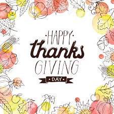 happy thanksgiving day lettering with watercolor