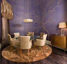 purple and gold living room traditional with candlesticks