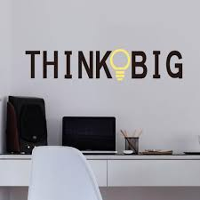 big office or home wall sticker think big office or home wall sticker