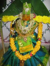 my first varalakshmi pooja decoration indusladies