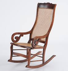 bench made lincoln style rocking chair reproduction ebth