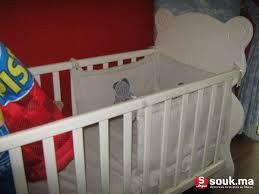 chambre bébé casablanca vente lit bébé à barreaux matelas socle ciel de lit casablanca