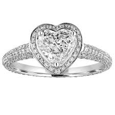 heart shaped diamond engagement ring certified 0 82 carat g vs1 heart shaped diamond engagement