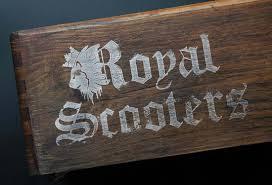 royal scooters logo design azura design