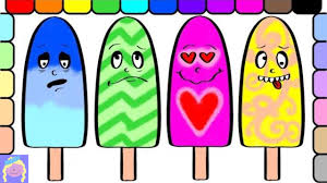 kids learn emotions and how to color with fun popsicles coloring