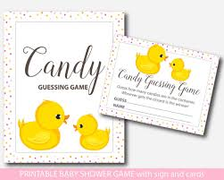 baby shower guessing rubber ducky candy guessing duck candy guessing bd1 16