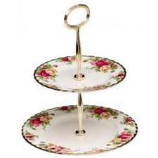 2 tier cake stand royal albert country roses 2 tier cakestand