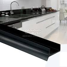 plinthe de cuisine 1 5m pvc bavette de plinthe 18mm noir cuisine planche mdf beaucoup