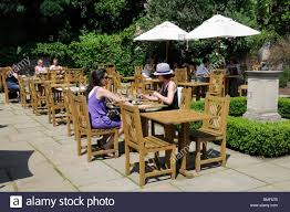 B M Garden Furniture Uk People Eating Outside At Cafe In Kenwood House Hampstead