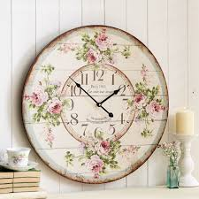 Large Shabby Chic Wall Clock by Floral Wall Clock Photo U2013 Wall Clocks