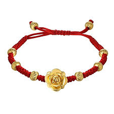 lucky red string bracelet images Women girls lucky red string bracelet gold plated rose charm beads jpg